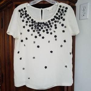 JCrew collection blouse 100% silk size 8